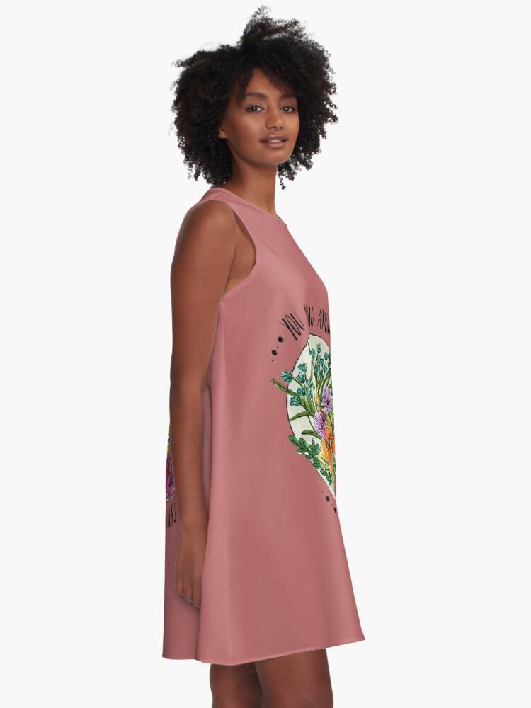 Alternative Ansicht von Sie gehören zu den Wildblumen A-Linien Kleid
