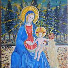 Fra Angelico Study Of Madonna and Child by Kashmere1646