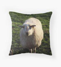 A Happy Sheep Throw Pillow