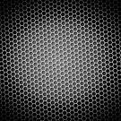 Honeycomb Background BW by Henrik Lehnerer