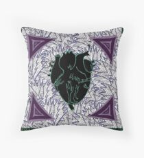 Green and Purple Pulse Throw Pillow