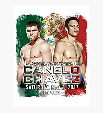 Canelo vs Chavez Jr Official Poster (T-Shirts, Phone Cases and more) Photographic Print