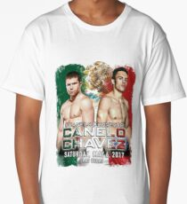 Canelo vs Chavez Jr Official Poster (T-Shirts, Phone Cases and more) Long T-Shirt