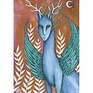 Night Walker (Print with white border) by NadiaTurner
