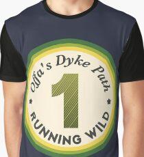 Offas Dyke Path Running Wild Graphic T-Shirt