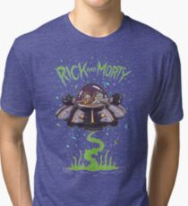 Rick And Morty Spaceship Tri-blend T-Shirt