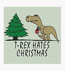 T-Rex - Hates Christmas Photographic Print