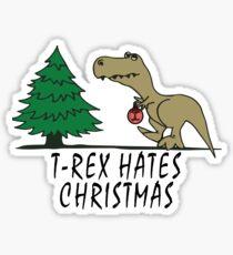 T-Rex - Hates Christmas Sticker