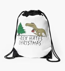 T-Rex - Hates Christmas Drawstring Bag