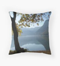 Lake Bohinj Throw Pillow