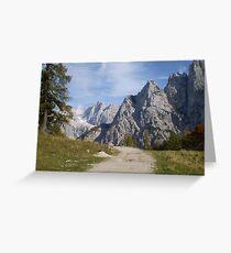 Vrsic Pass, Slovenia Greeting Card