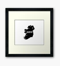 Bantry, Ireland Silhouette Framed Print