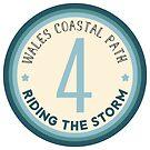 Wales Coastal Path Riding the Storm by Yvie Johnson