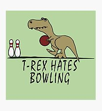 T-Rex - Hates Bowling Photographic Print
