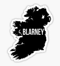 Blarney, Ireland Silhouette Sticker