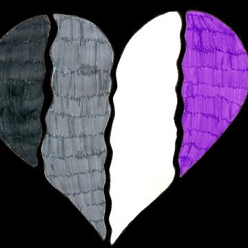 Asexual Pride Flag Heart by JuliaDream