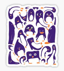 Purple Penguin Party Sticker