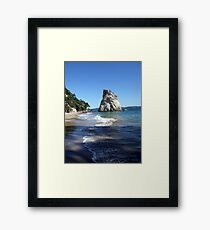 Shadowy Cathedral Cove Framed Print