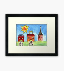 Easter Queues Framed Print