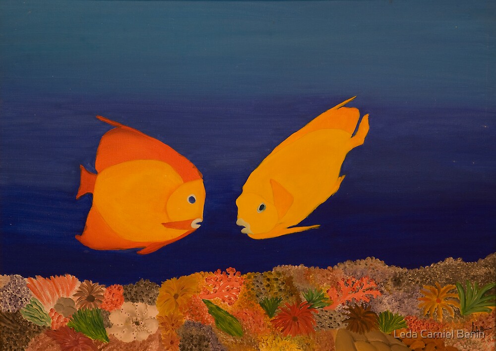 casal de peixes by Leda Carniel Benin