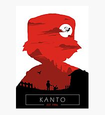 Welcome to Kanto- Red vers. Photographic Print