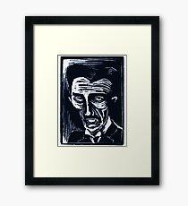 tesla (version 1 blue) Framed Print