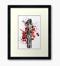 Darth Vader Lightsaber Framed Print