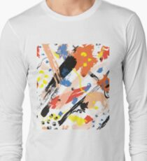 Watercolor Abstract Poppies Long Sleeve T-Shirt