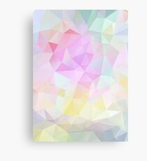 Abstract vector background of triangles, polygon wallpaper in pastel colors. Canvas Print