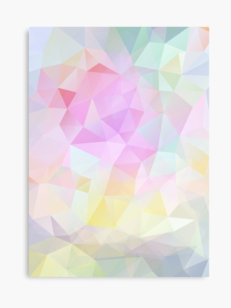 Abstract Vector Background Of Triangles Polygon Wallpaper In Pastel Colors Canvas Print