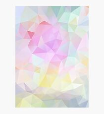 Abstract vector background of triangles, polygon wallpaper in pastel colors. Photographic Print