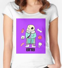 Bad To The Bone - Undertale sans (Normal ver.) Women's Fitted Scoop T-Shirt