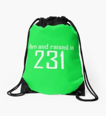 231 - Area Code Wearables (white) Drawstring Bag