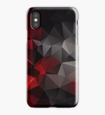 Abstract background of triangles polygon wallpaper in black red colors iPhone Case/Skin