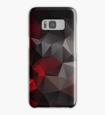 Abstract background of triangles polygon wallpaper in black red colors Samsung Galaxy Case/Skin