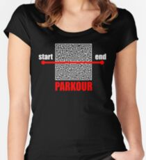 Parkour  Women's Fitted Scoop T-Shirt