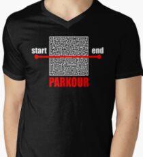Parkour  Men's V-Neck T-Shirt