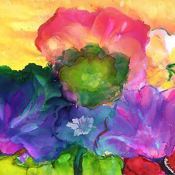 """FLORACOPIA 2"" - Colorful, Original Artist's Design! by zeneriffic"
