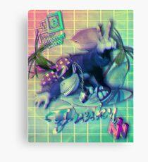 Donkey Kong Vaporwave  Canvas Print
