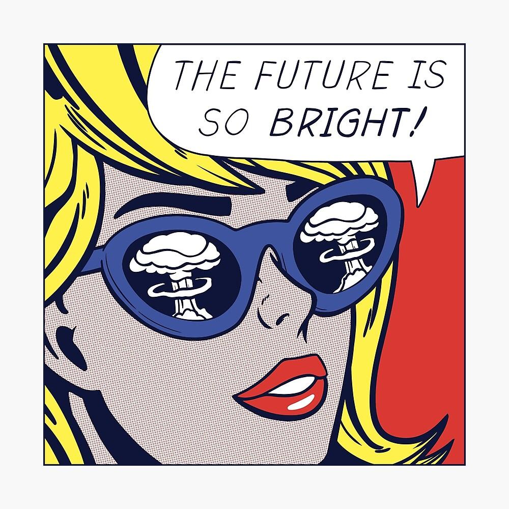 Pop optimistisches Mädchen Fotodruck