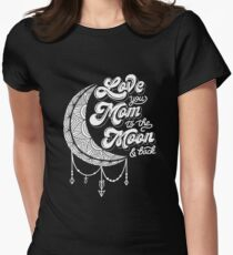 Love You Mom Womens Fitted T-Shirt