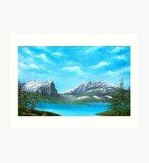 Hallet Peak and Flattop Mountain Art Print