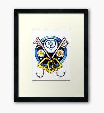 Sora Stained Glass Emblem Framed Print