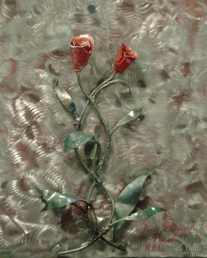 """""""A HEART WITHIN TWO ROSES"""" by SNGLTANG"""