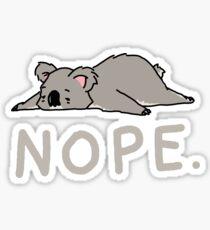 Nope Koala Sticker