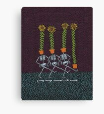 Sunflower Skeletons Canvas Print