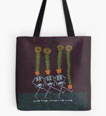 Sunflower Skeletons Tote Bag