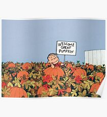 The Peanuts - Linus and The Great Pumpkin Poster