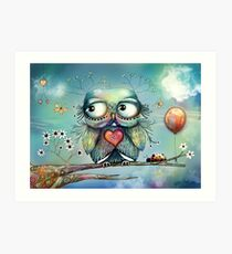 little wood owl Art Print