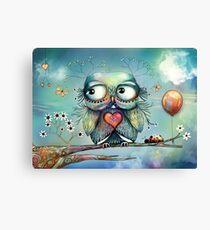 little wood owl Canvas Print